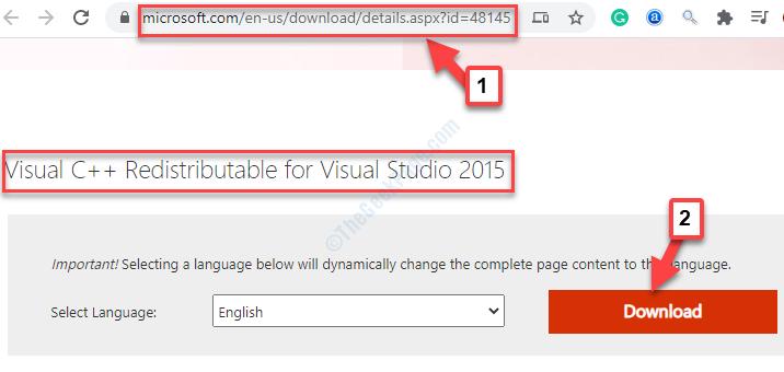 Microsoft Link Visual C ++ Redistributable Browser per Visual Studio 2015 Download
