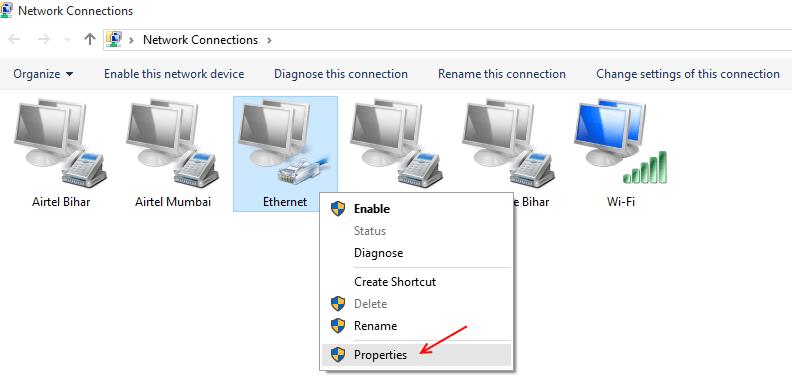 ethernet-clic-destro-proprietà
