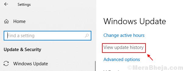 Visualizza la cronologia degli aggiornamenti di Windows 10