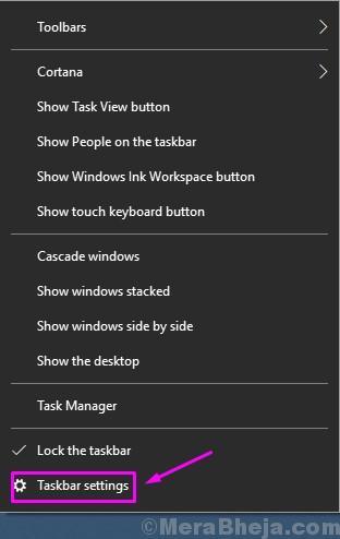 Impostazioni della barra delle applicazioni