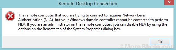 Il computer remoto richiede l'autenticazione a livello di rete