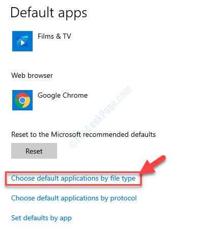 App predefinite Scegli le app predefinite per tipo di file
