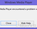 Windows Media Player ha riscontrato un problema durante la riproduzione del file