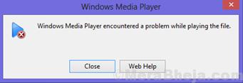 Windows Media Player ha riscontrato un problema durante la riproduzione del file