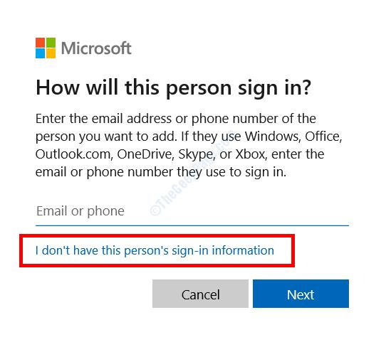 Nessuna informazione di accesso