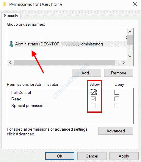 Autorizzazione dell'utente