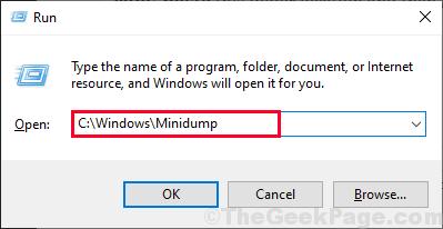 Esecuzione di minidump