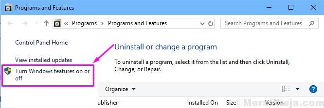 Abilita o disabilita le funzionalità di Windows