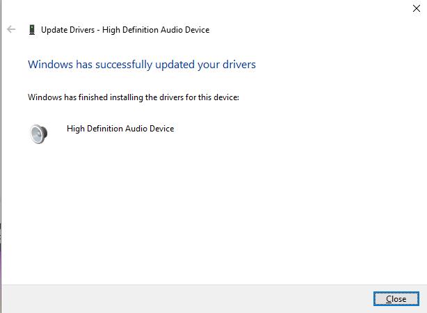 Driver audio aggiornato