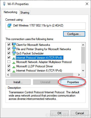 Proprietà IPv4 minime