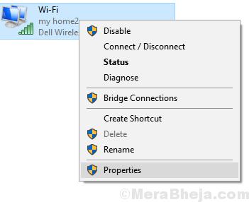 Proprietà adattatore Wifi Min