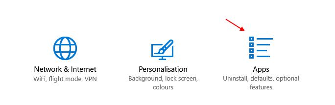 Applicazioni Impostazioni di Windows 10