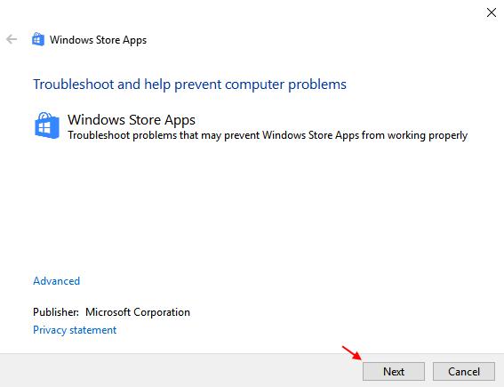 Risoluzione dei problemi delle app di Windows Store 1