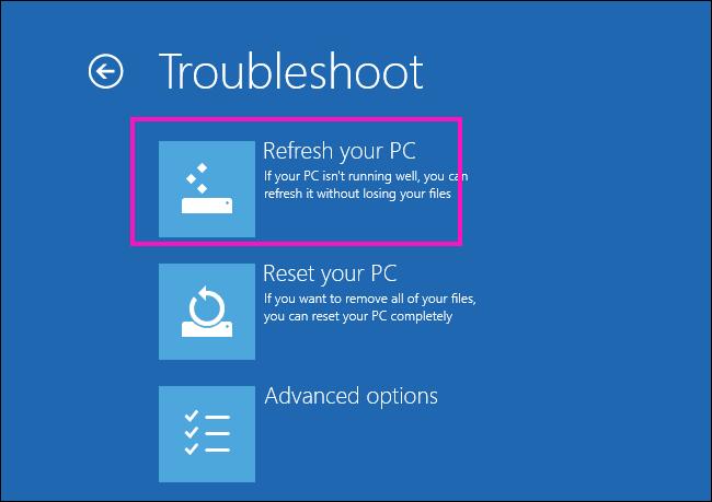 Aggiorna Ripara l'unità in cui è installato Windows è bloccato Errore di Windows 10