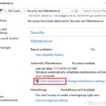Avvia e disabilita manualmente la manutenzione automatica in Windows 10