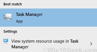 Avvio del Task Manager