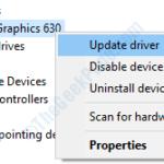 Correggi l'errore di pianificazione video interno in Windows 10 [Solved]