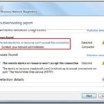 Correggi il dispositivo remoto o la risorsa che non accetta la connessione in Windows 10