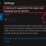 Risolto!  Cortana non supporta la regione e la lingua selezionate