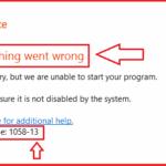"""Soluzione semplice """"Qualcosa è andato storto Errore 1058-13"""" in MS-Office 2013"""