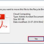 Imposta l'avviso di conferma dell'eliminazione in Windows 10 durante l'eliminazione dei file