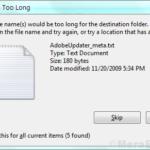Fix File è troppo grande per il file system di destinazione in Windows 10