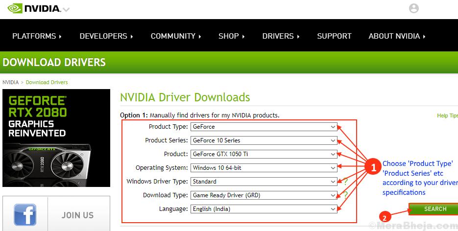 Aggiornamento del driver Nvidia