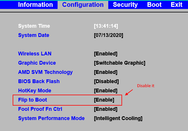 Lenovo Flip Boot Min