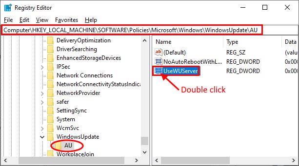 Fare doppio clic per aprire Usewuserer