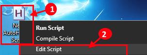 Modifica script