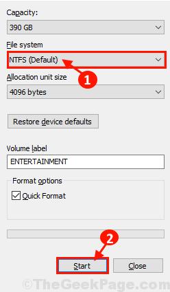 Avvio del formato NTFS