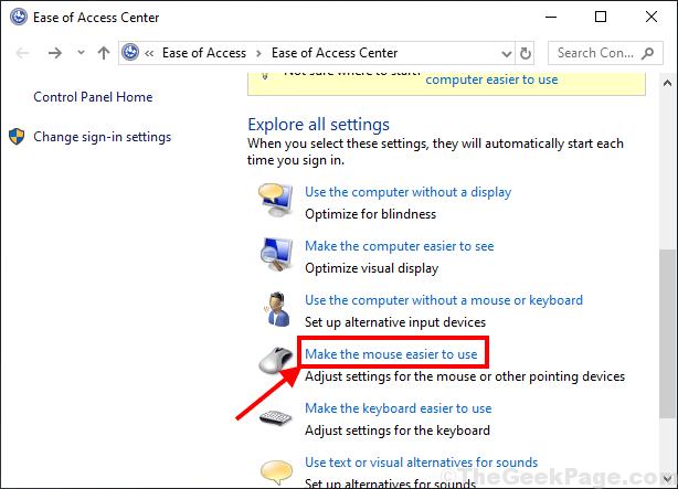 Rendi il mouse più facile da usare