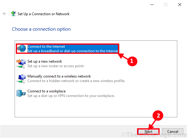 Connettiti alla rete