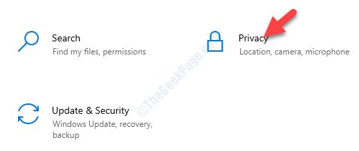 Impostazioni della privacy