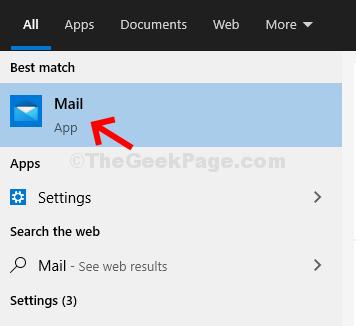 Inizia la ricerca nella posta